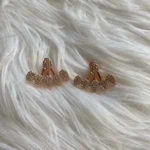 Diamond Hoop Stud Earrings